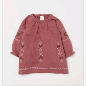 H&M baby girl embroidered dress